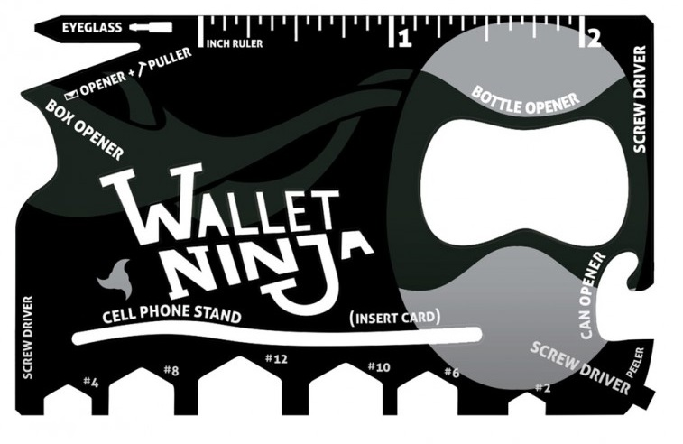 Wallet Ninja – Wielofunkcyjna karta przetrwaniowa 18 w 1